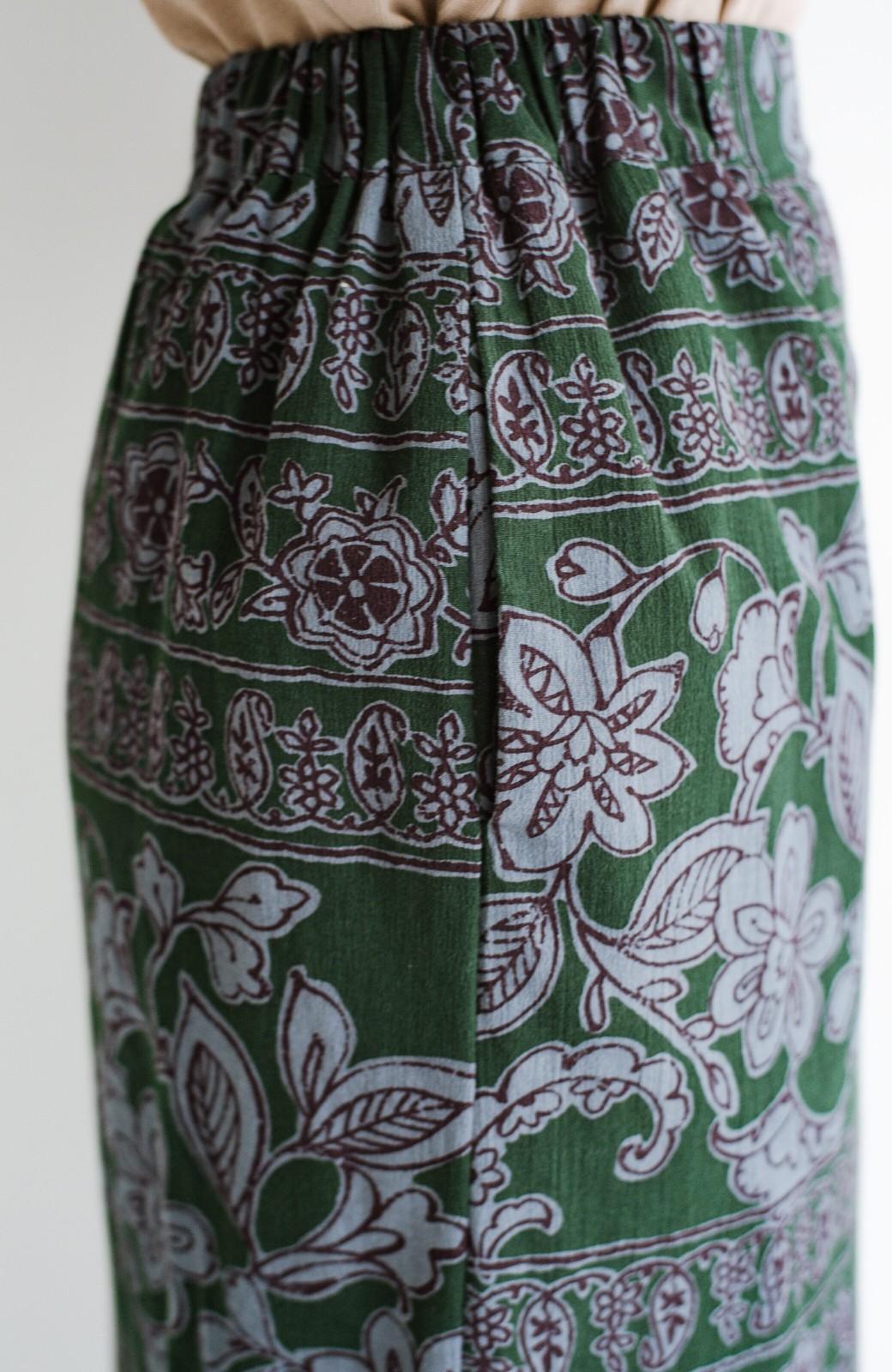 haco! 京都の浴衣屋さんと作った浴衣生地のセミタイトスカート <グリーン系その他>の商品写真11