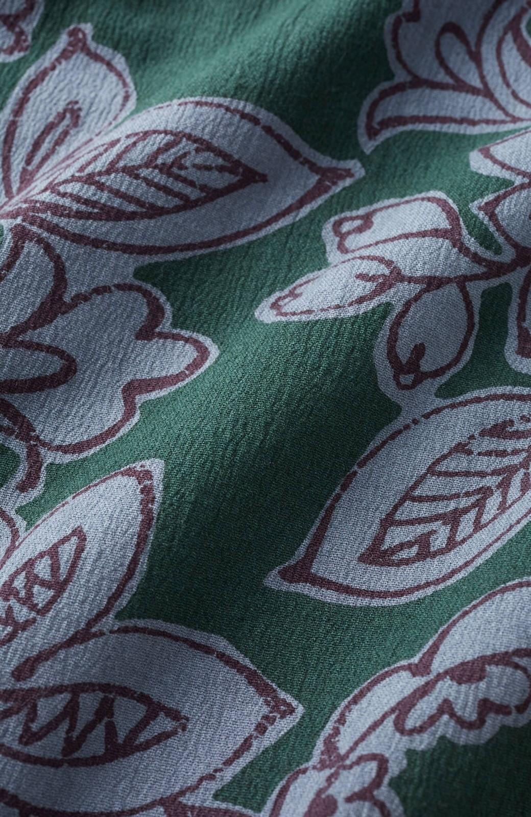 haco! 京都の浴衣屋さんと作った浴衣生地のセミタイトスカート <グリーン系その他>の商品写真4