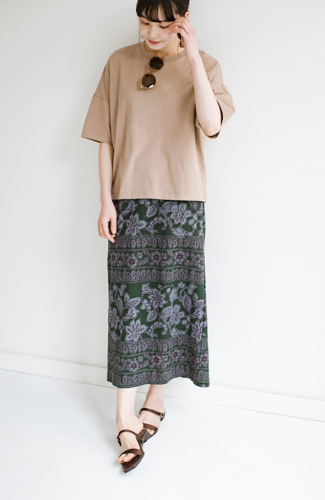 haco! 京都の浴衣屋さんと作った浴衣生地のセミタイトスカート <グリーン系その他>の商品写真19