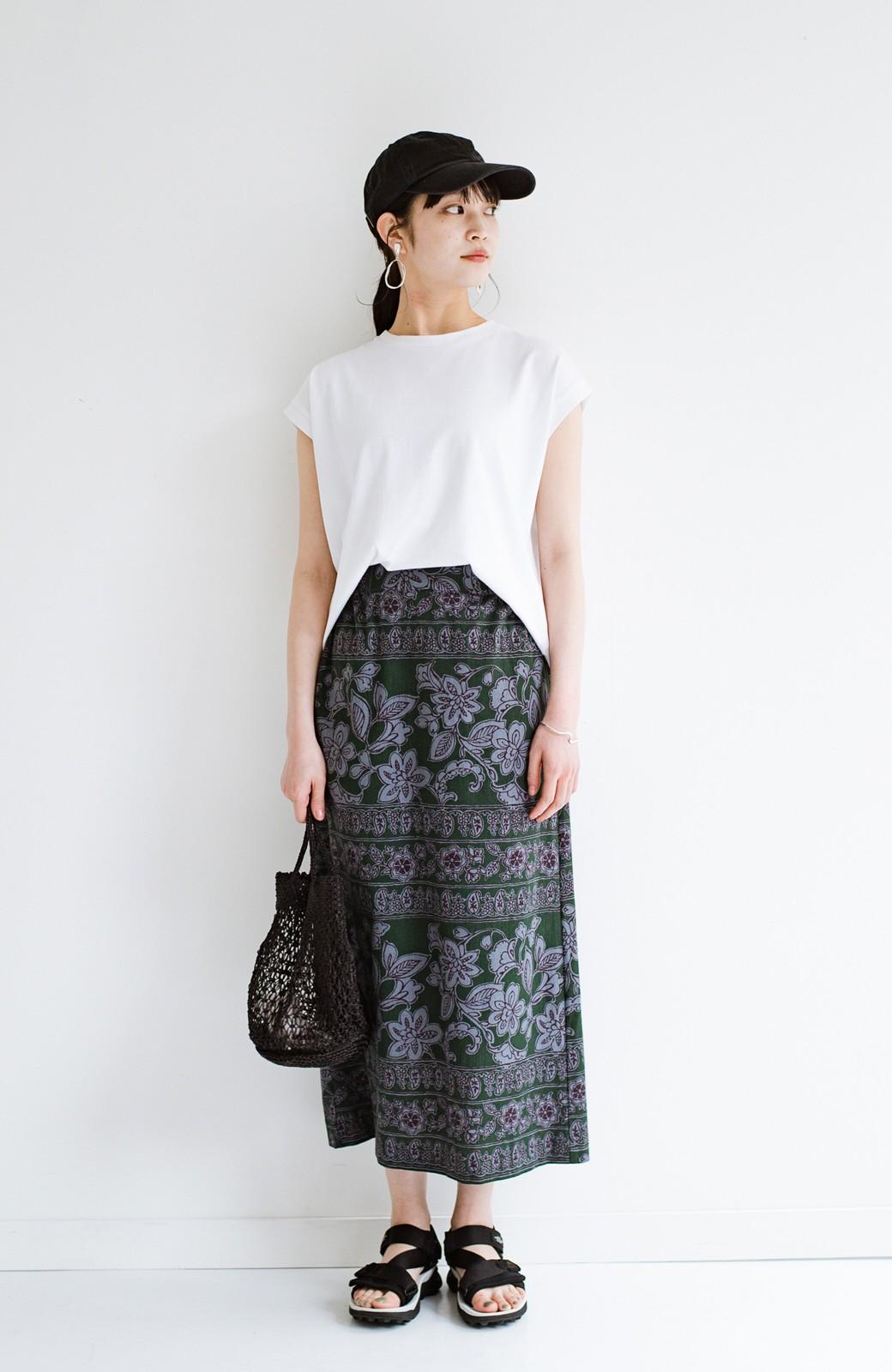 haco! 京都の浴衣屋さんと作った浴衣生地のセミタイトスカート <グリーン系その他>の商品写真13