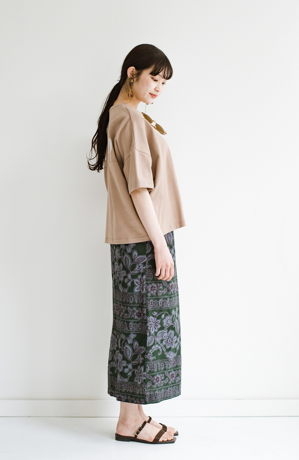 haco! 京都の浴衣屋さんと作った浴衣生地のセミタイトスカート <グリーン系その他>の商品写真16