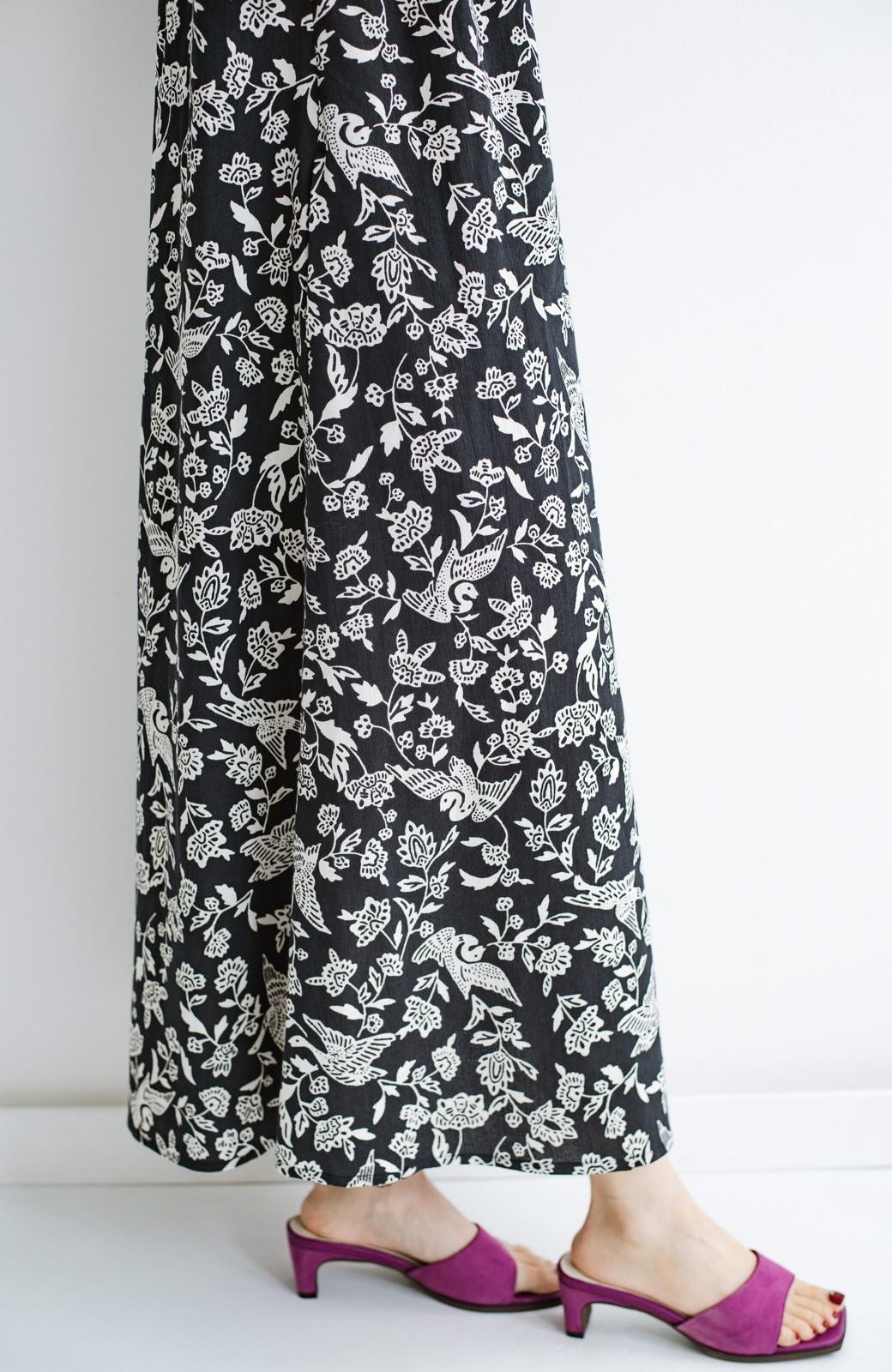 haco! 京都の浴衣屋さんと作った浴衣生地の羽織ってもかわいいロングワンピース <ブラック系その他>の商品写真8