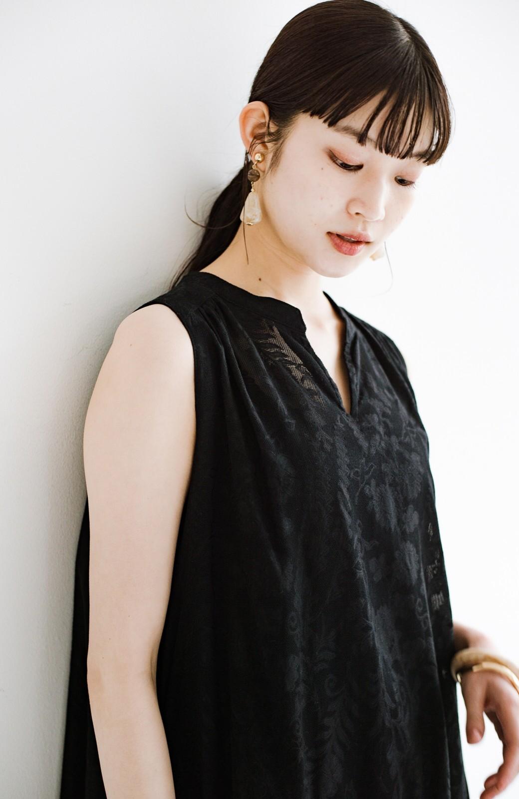 haco! 京都の浴衣屋さんと作った浴衣生地のロングワンピース <ブラック>の商品写真11