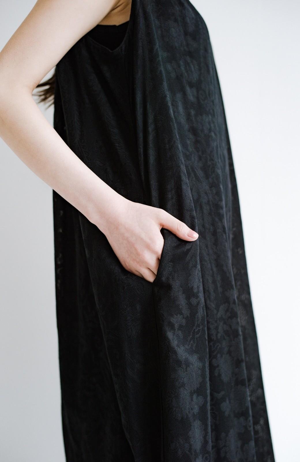haco! 京都の浴衣屋さんと作った浴衣生地のロングワンピース <ブラック>の商品写真12