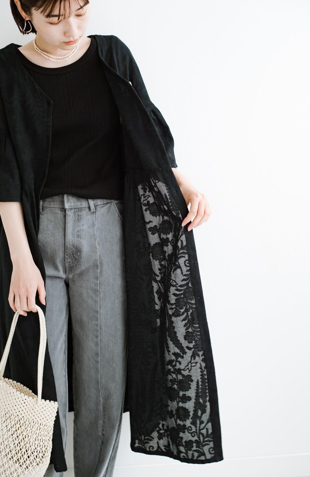 haco! 京都の浴衣屋さんと作った浴衣生地の羽織りにもなるワンピース <ブラック>の商品写真7