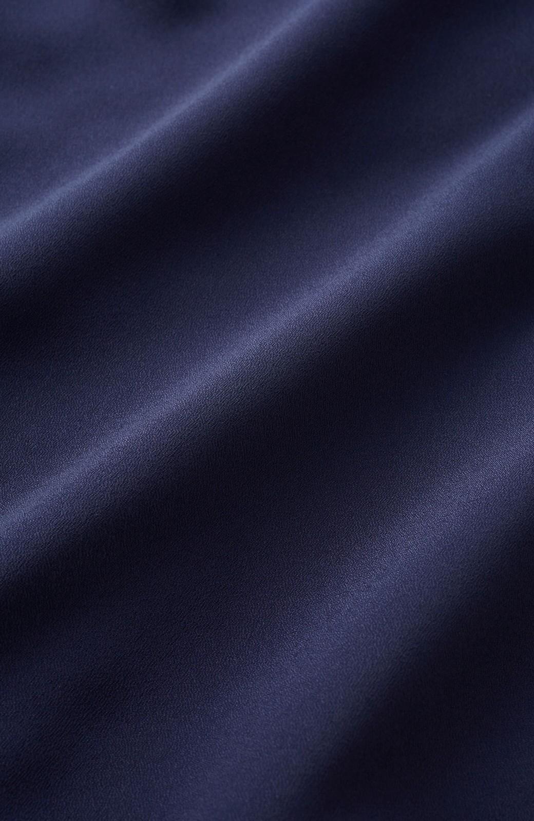 haco! (φ)お仕事にも普段にも 華やか加減が絶妙なボタンポイントブラウス <ネイビー>の商品写真12