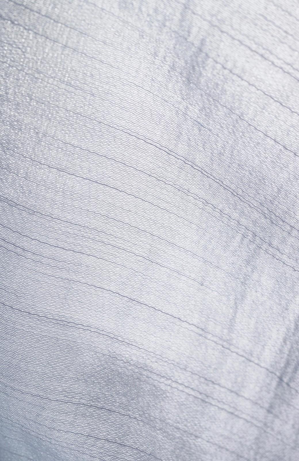 haco! (φ)これさえあればアクセサリーいらず 前後着られて便利な華やかフリルの2wayブラウス <ライトグレー>の商品写真10