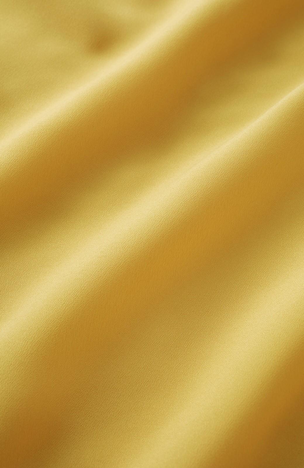 haco! (φ)お仕事にも普段にも 華やか加減が絶妙なボタンポイントブラウス <イエロー>の商品写真10