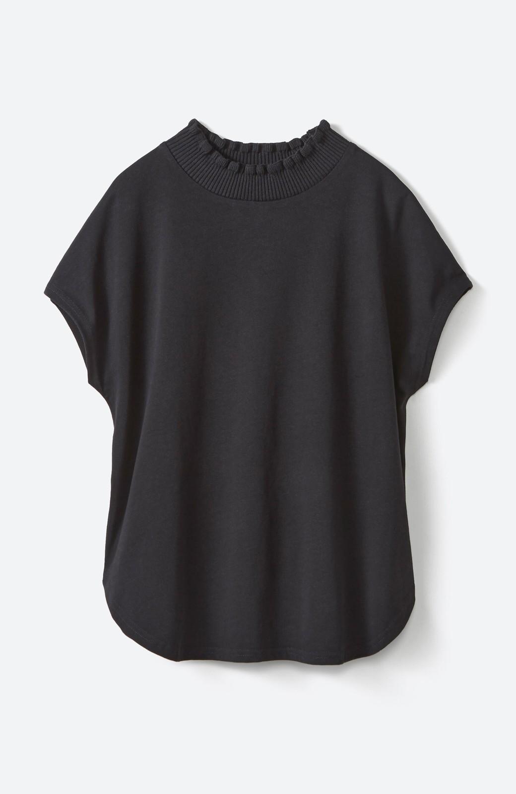 haco!  パッと着てさっとかわいくなれちゃう!フリルリブモックネックTシャツ <ブラック>の商品写真20
