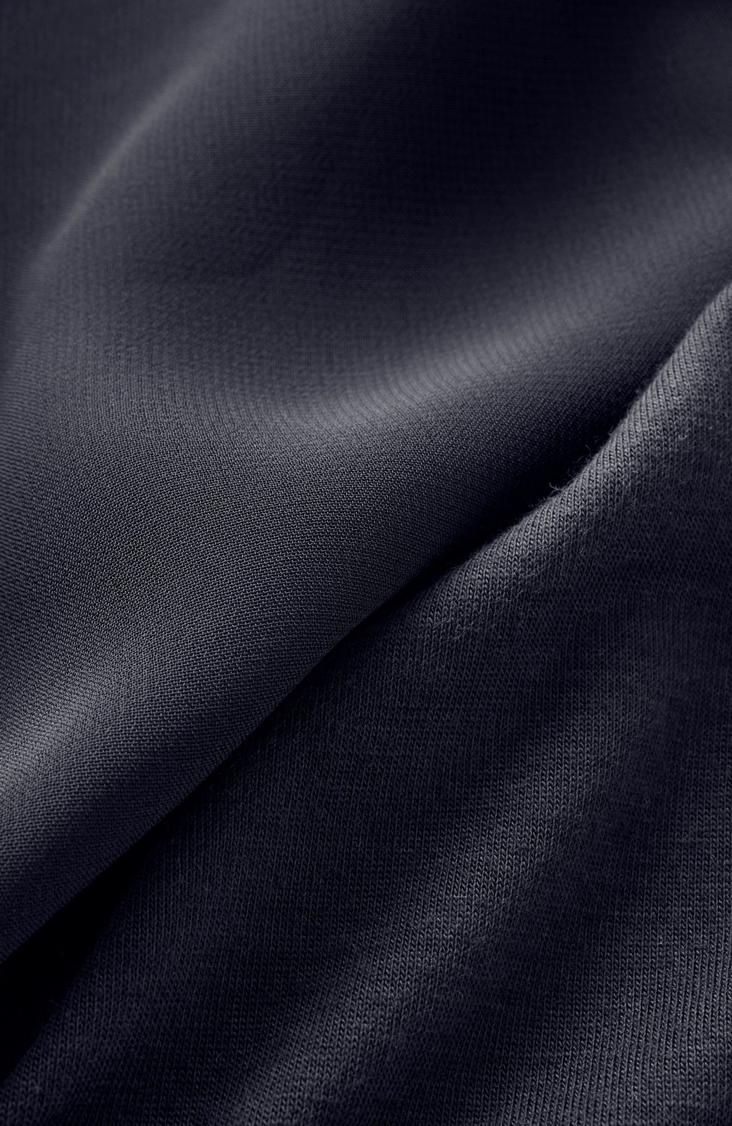 haco! 上品な透け感が華やぎをプラスしてくれるシフォントップス&ノースリーブカットソーセット <ダークネイビー>の商品写真3