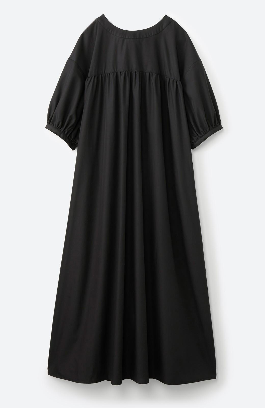 haco! 前後で着られて羽織りとしても便利! いつものパンツに重ねて着まわし上手になれるシャツワンピースby who made me <ブラック>の商品写真23