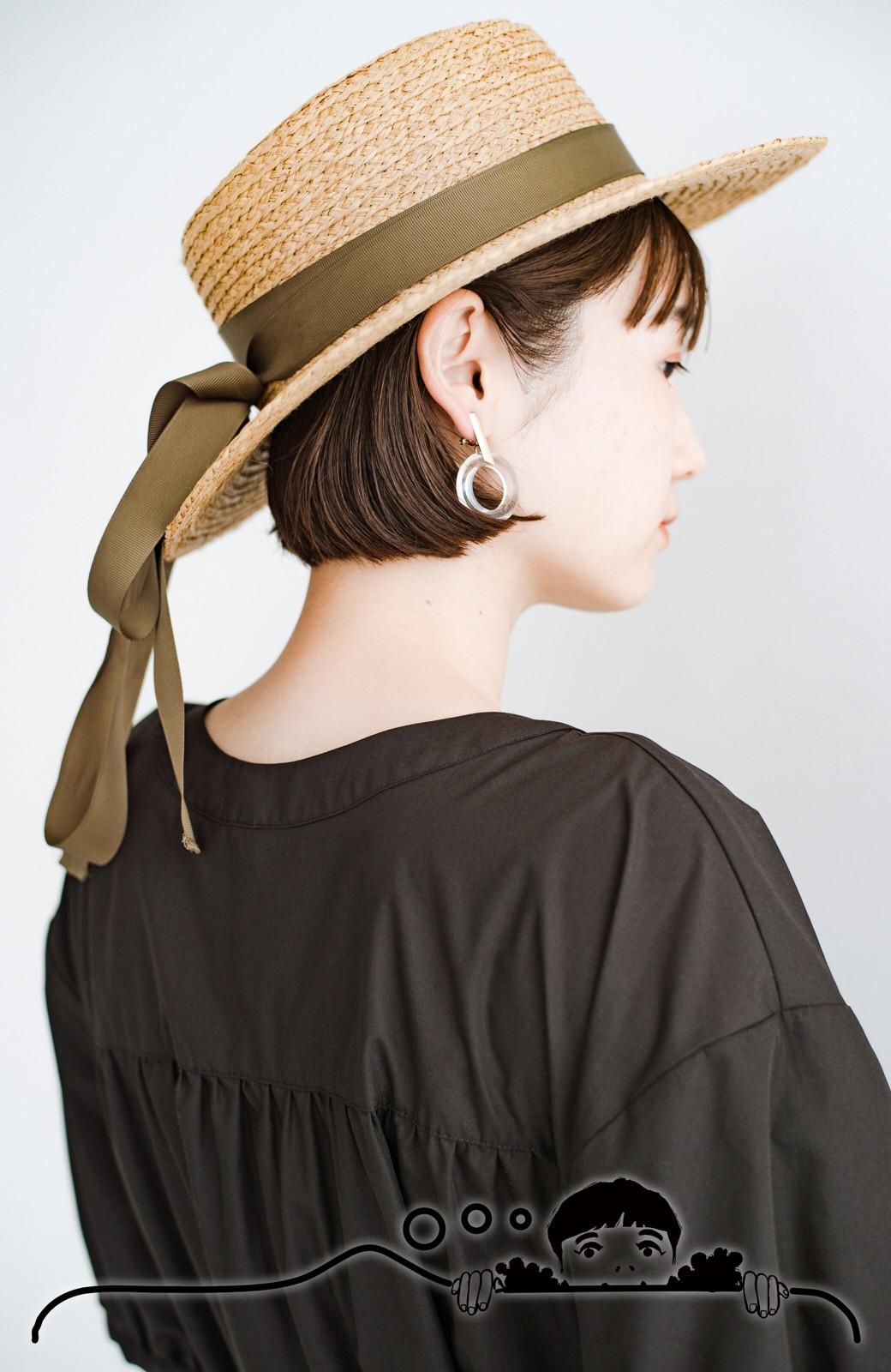 haco! 前後で着られて羽織りとしても便利! いつものパンツに重ねて着まわし上手になれるシャツワンピースby who made me <ブラック>の商品写真4