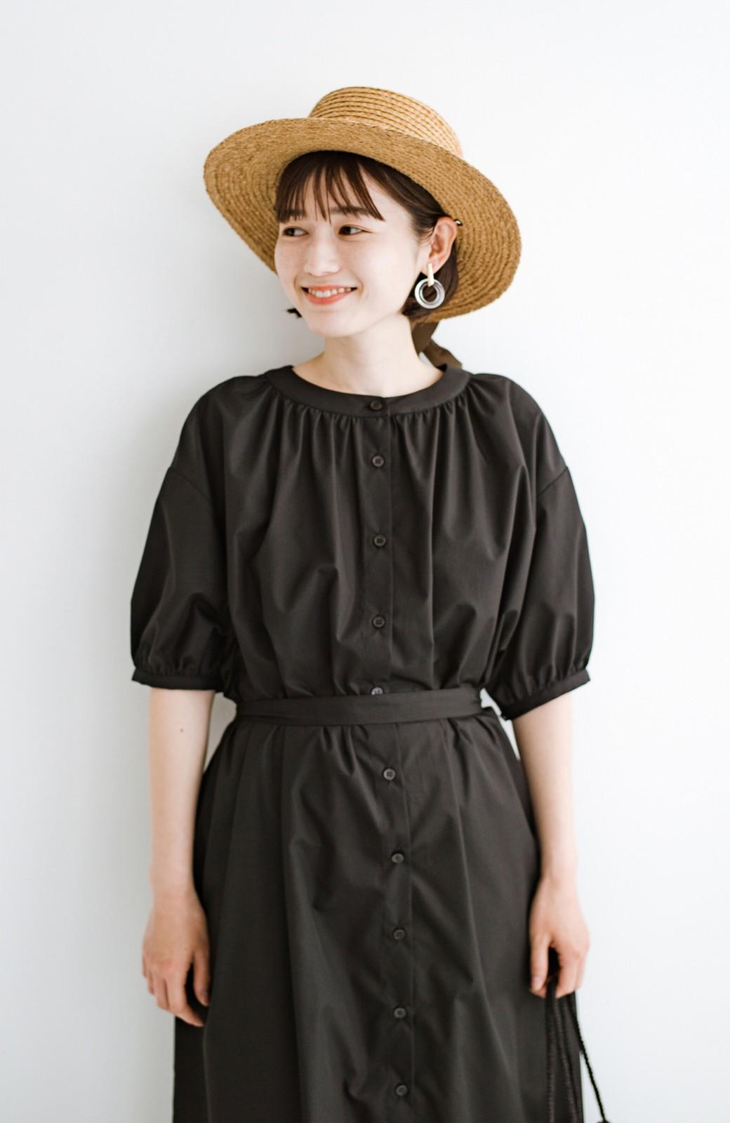 haco! 前後で着られて羽織りとしても便利! いつものパンツに重ねて着まわし上手になれるシャツワンピースby who made me <ブラック>の商品写真26