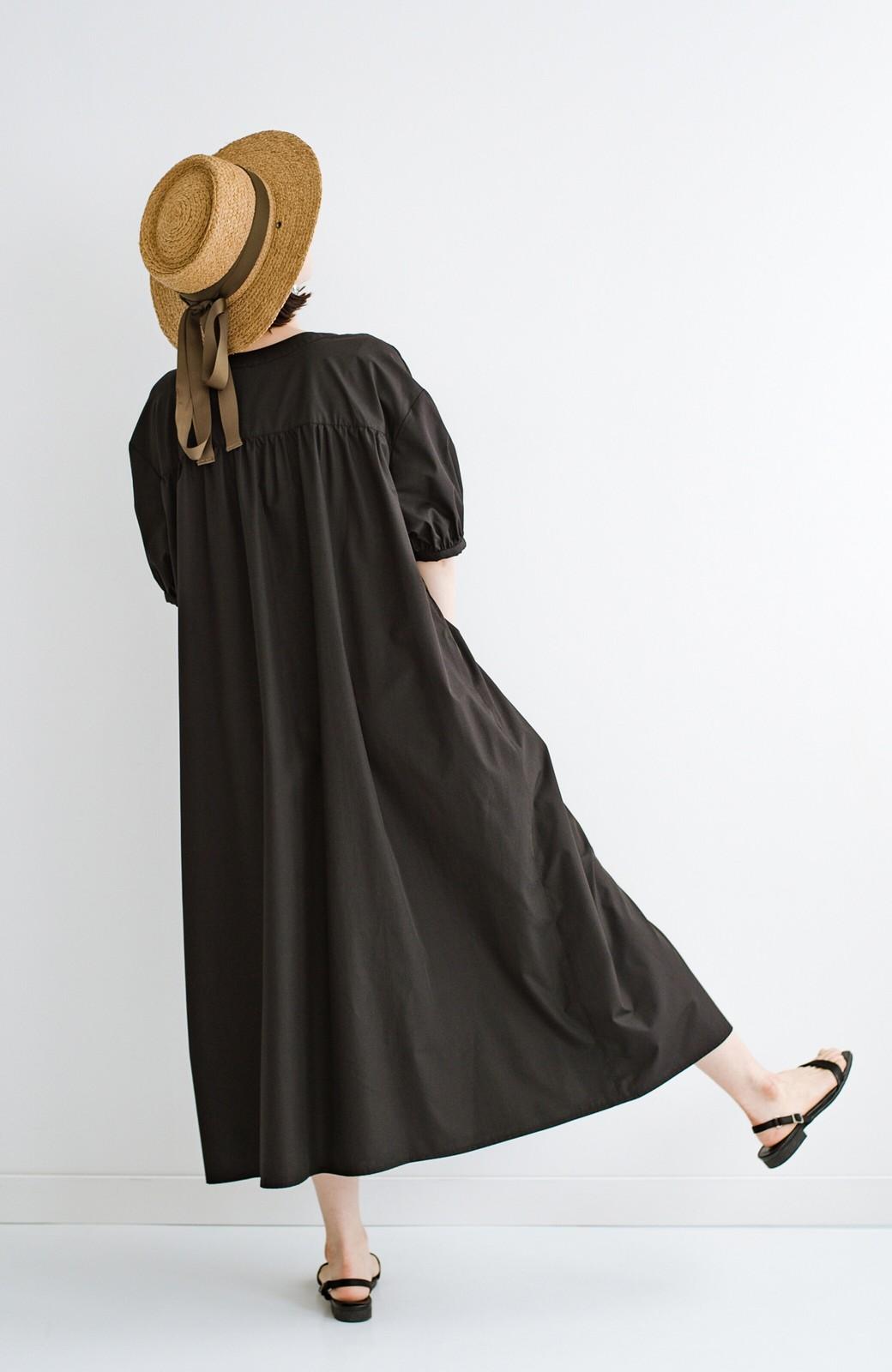 haco! 前後で着られて羽織りとしても便利! いつものパンツに重ねて着まわし上手になれるシャツワンピースby who made me <ブラック>の商品写真40
