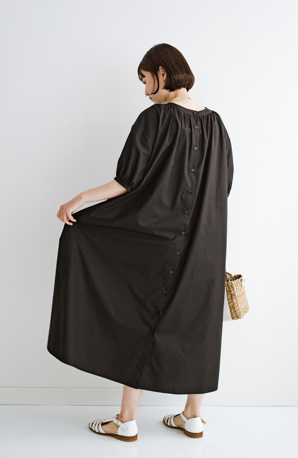 haco! 前後で着られて羽織りとしても便利! いつものパンツに重ねて着まわし上手になれるシャツワンピースby who made me <ブラック>の商品写真41