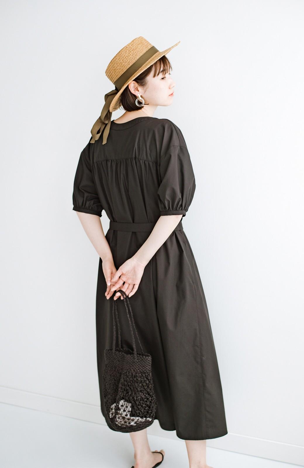 haco! 前後で着られて羽織りとしても便利! いつものパンツに重ねて着まわし上手になれるシャツワンピースby who made me <ブラック>の商品写真42