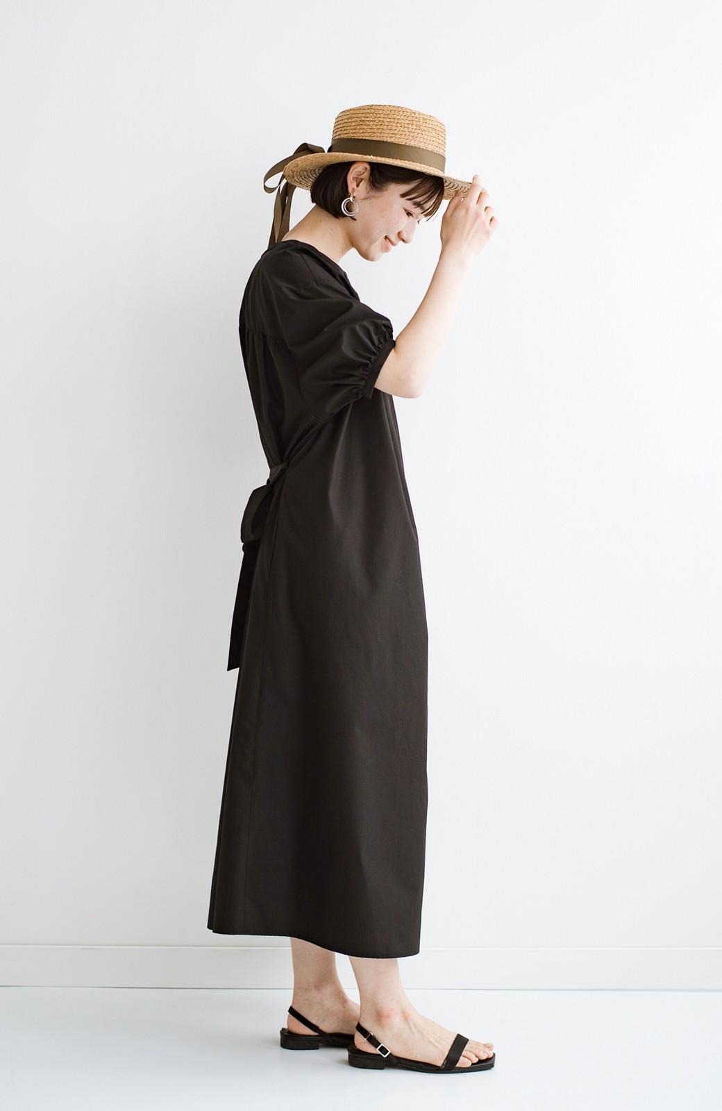 haco! 前後で着られて羽織りとしても便利! いつものパンツに重ねて着まわし上手になれるシャツワンピースby who made me <ブラック>の商品写真31