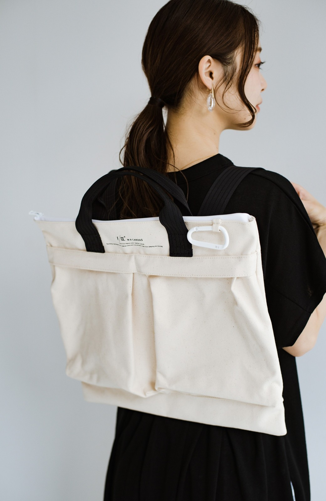 haco! F/CE.(エフシーイー) W.R CANVAS HELMET BAG <ブラック>の商品写真2
