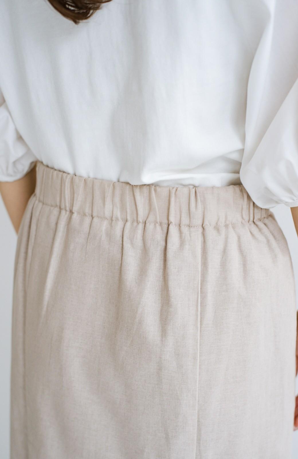 haco! Tシャツと合わせるだけでコーデが決まる!楽して女っぽが叶う麻混マーメイドスカート by que made me <ベージュ>の商品写真6