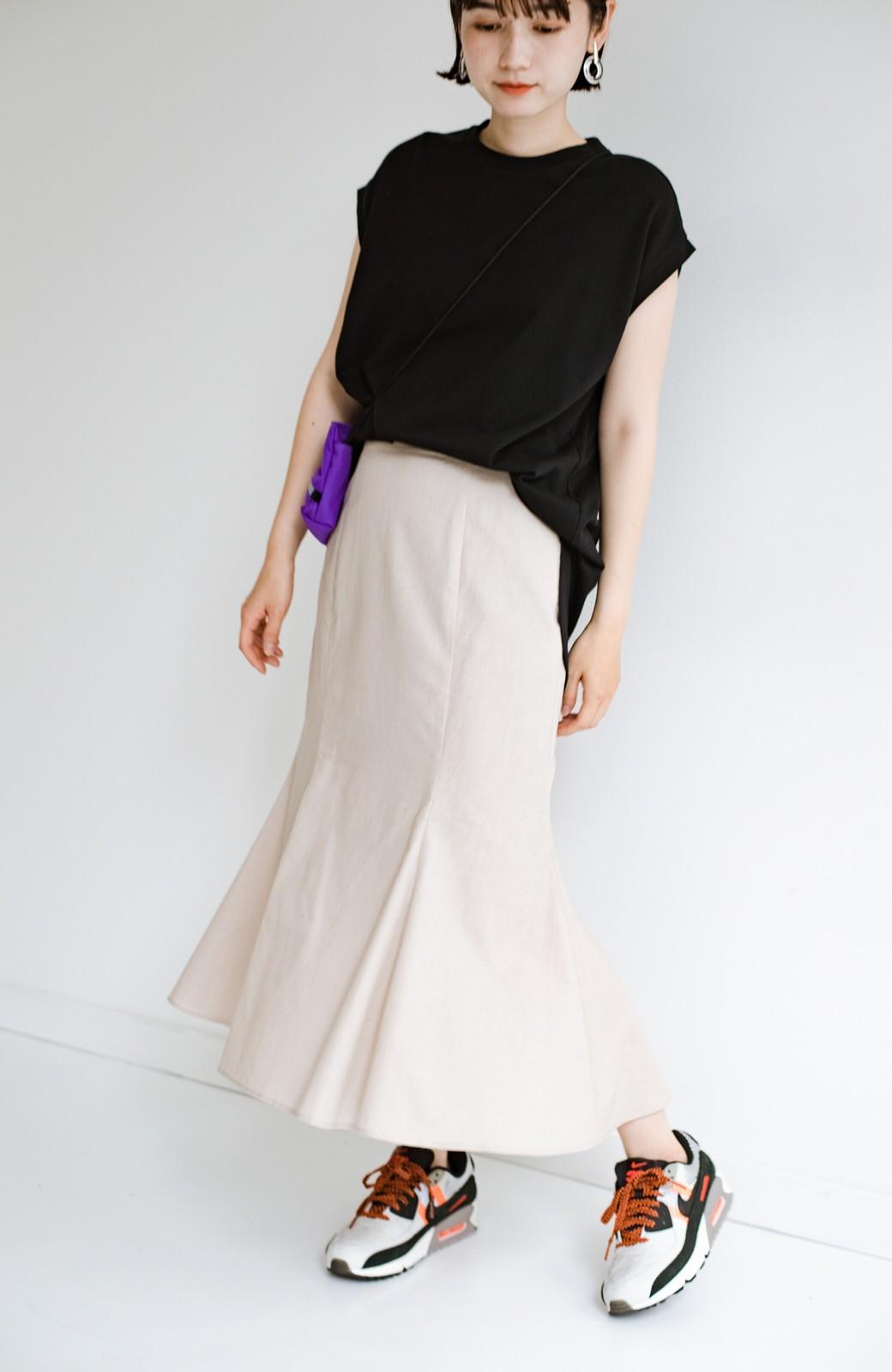 haco! Tシャツと合わせるだけでコーデが決まる!楽して女っぽが叶う麻混マーメイドスカート by que made me <ベージュ>の商品写真19