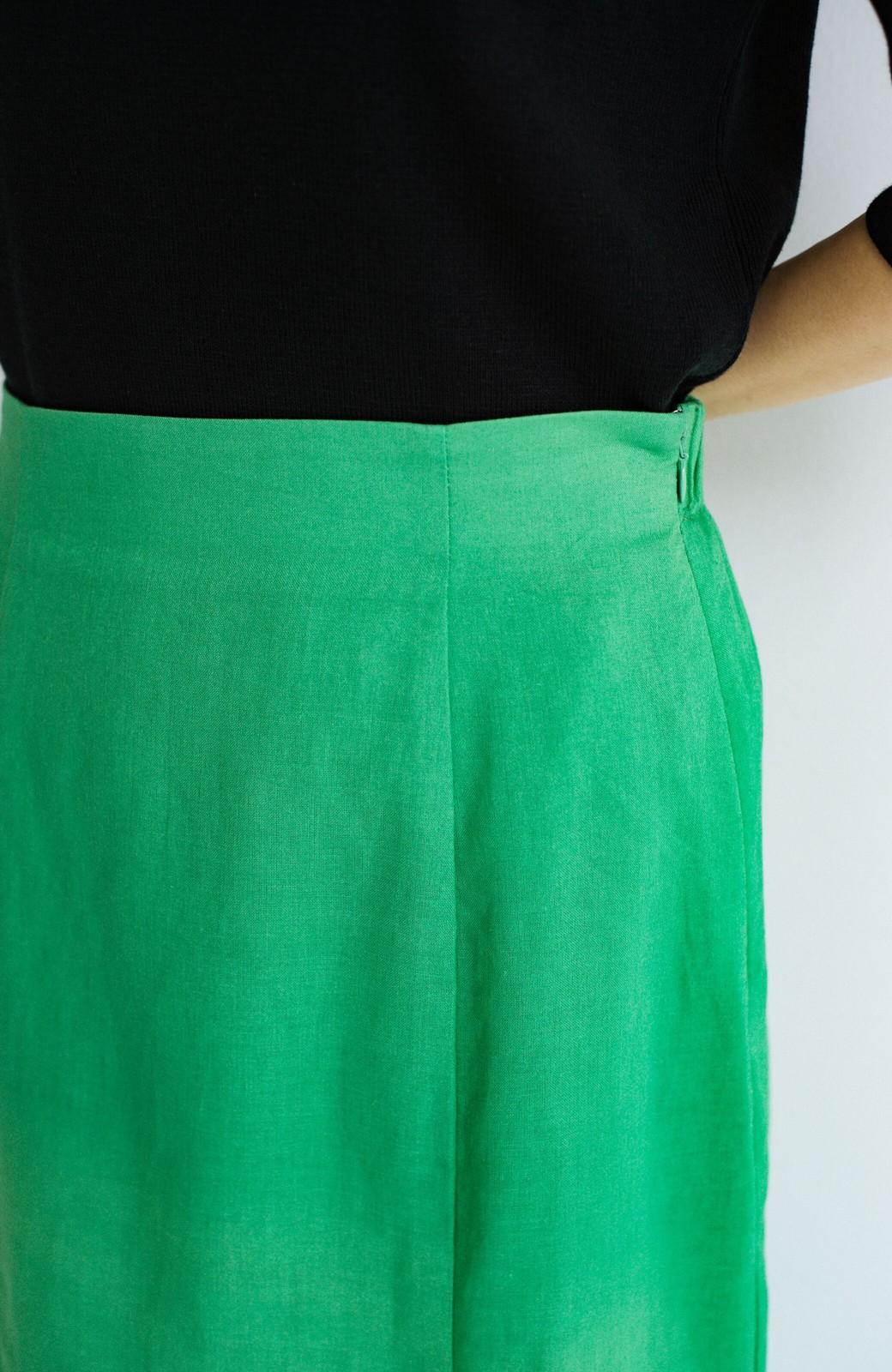 haco! Tシャツと合わせるだけでコーデが決まる!楽して女っぽが叶う麻混マーメイドスカート by que made me <グリーン>の商品写真7