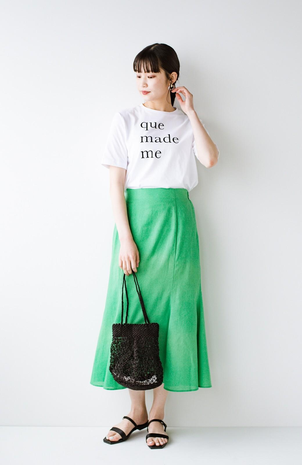 haco! 時間のない朝にもパッと出かけられる!元気が出るきれい色スカートにちょうどいいロゴTシャツを合わせておいた作り置きコーデセット by que made me <その他>の商品写真1
