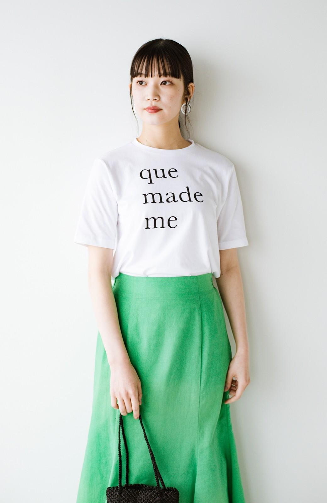 haco! 時間のない朝にもパッと出かけられる!元気が出るきれい色スカートにちょうどいいロゴTシャツを合わせておいた作り置きコーデセット by que made me <その他>の商品写真3