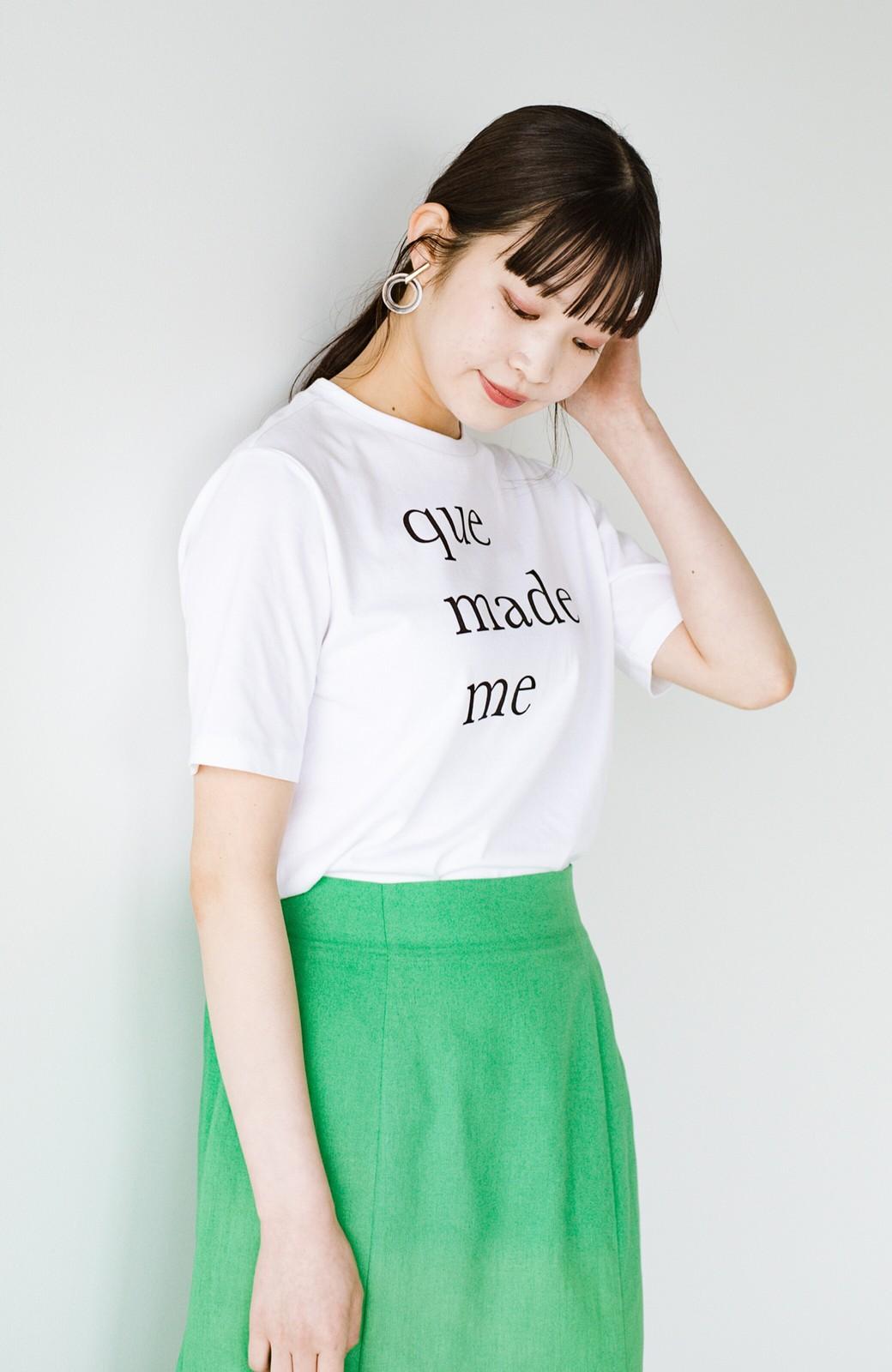 haco! 時間のない朝にもパッと出かけられる!元気が出るきれい色スカートにちょうどいいロゴTシャツを合わせておいた作り置きコーデセット by que made me <その他>の商品写真4