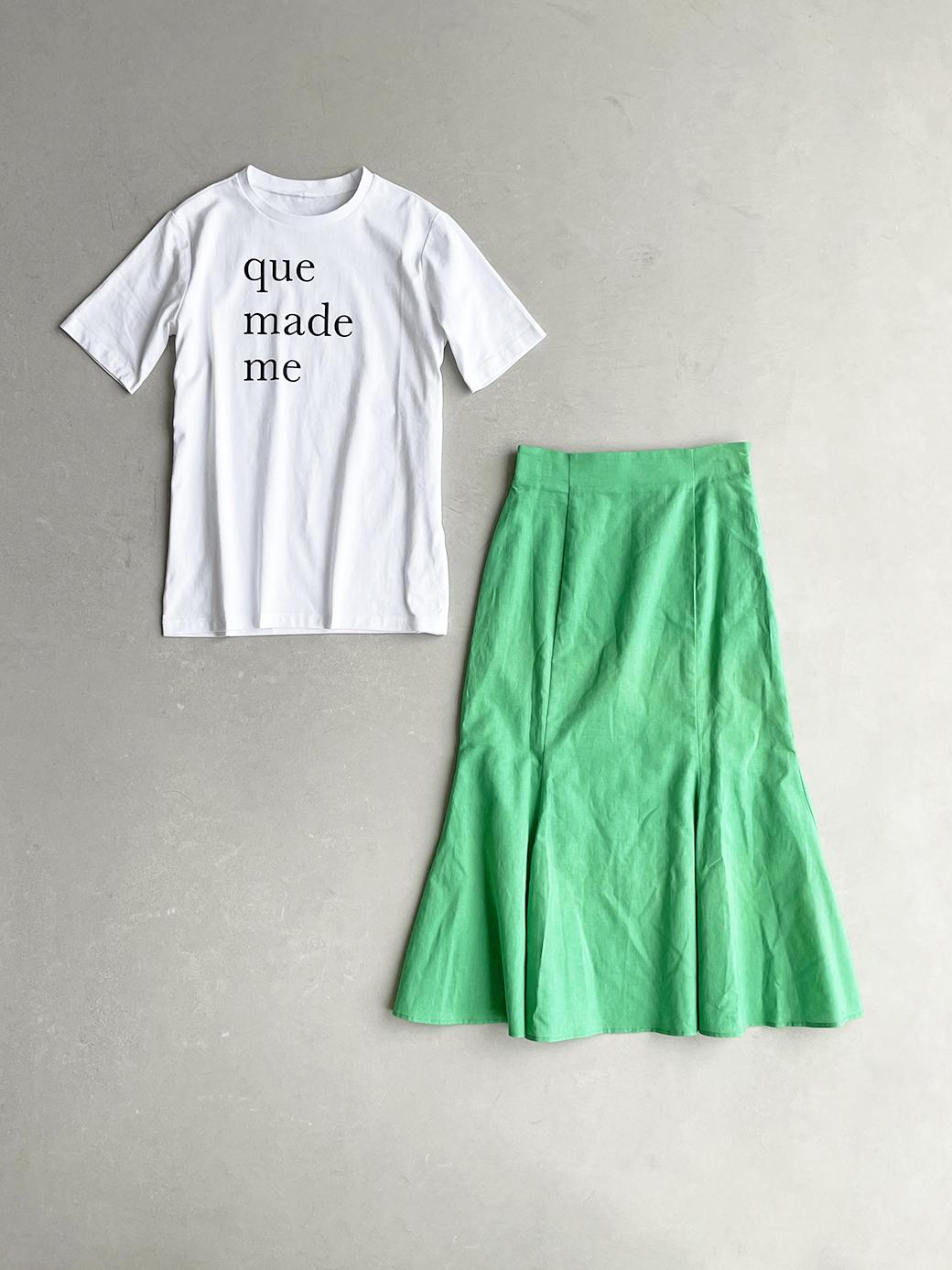 haco! 時間のない朝にもパッと出かけられる!元気が出るきれい色スカートにちょうどいいロゴTシャツを合わせておいた作り置きコーデセット by que made me <その他>の商品写真2