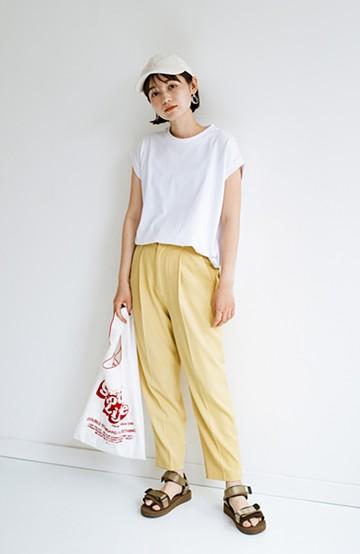 haco! 迷った朝はこれ着よう!元気が出るきれい色パンツにちょい袖大人Tシャツを合わせておいた作り置きコーデセット by que made me <その他>の商品写真