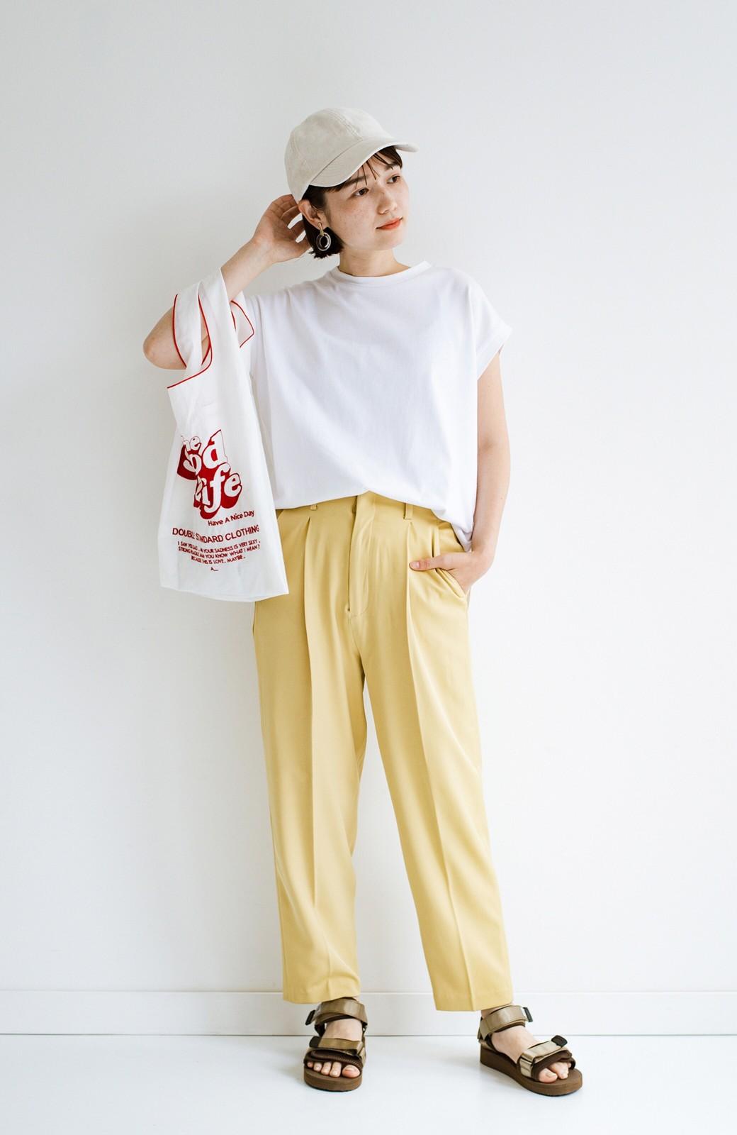haco! 迷った朝はこれ着よう!元気が出るきれい色パンツにちょい袖大人Tシャツを合わせておいた作り置きコーデセット by que made me <その他>の商品写真3