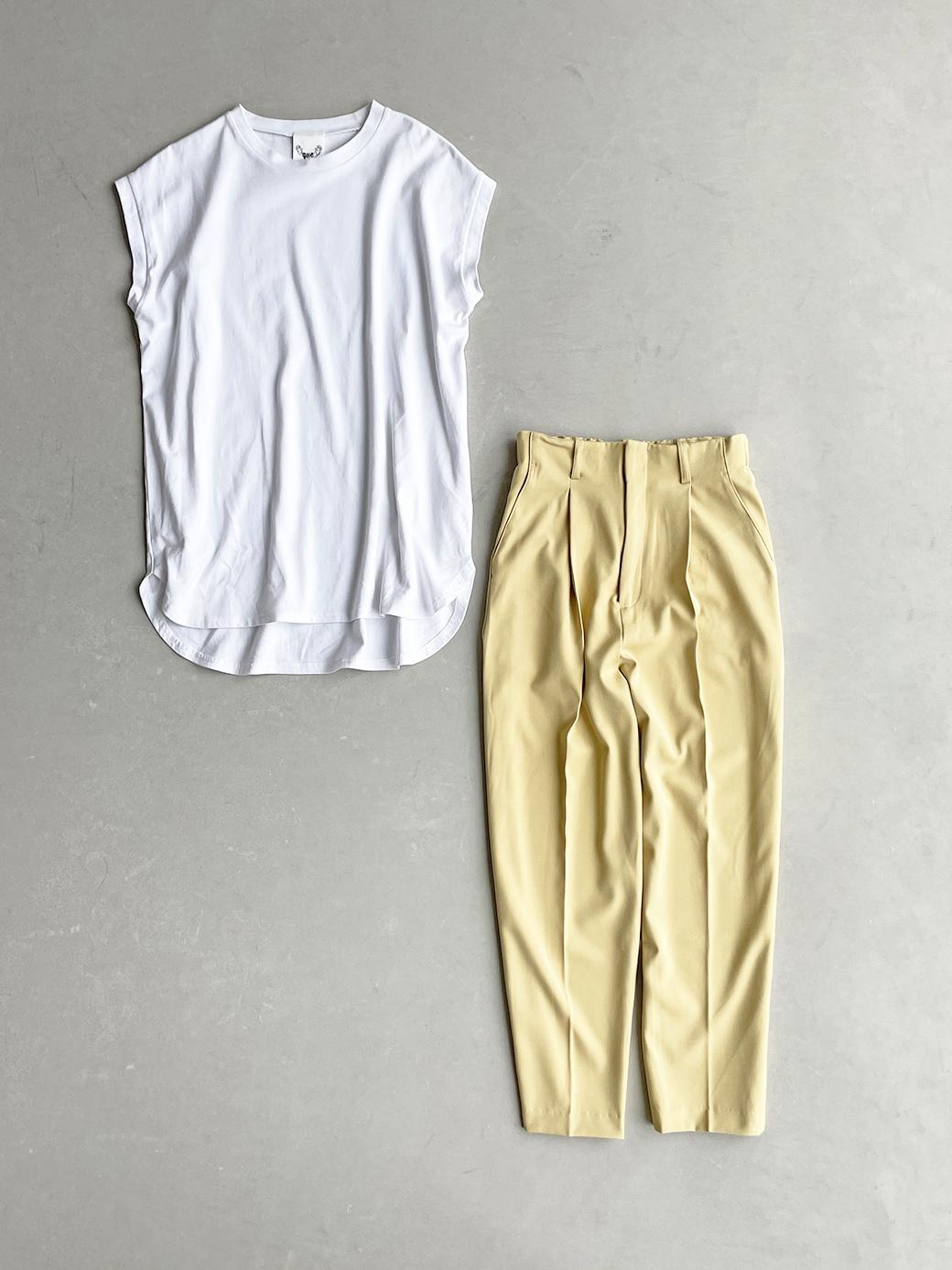 haco! 迷った朝はこれ着よう!元気が出るきれい色パンツにちょい袖大人Tシャツを合わせておいた作り置きコーデセット by que made me <その他>の商品写真2