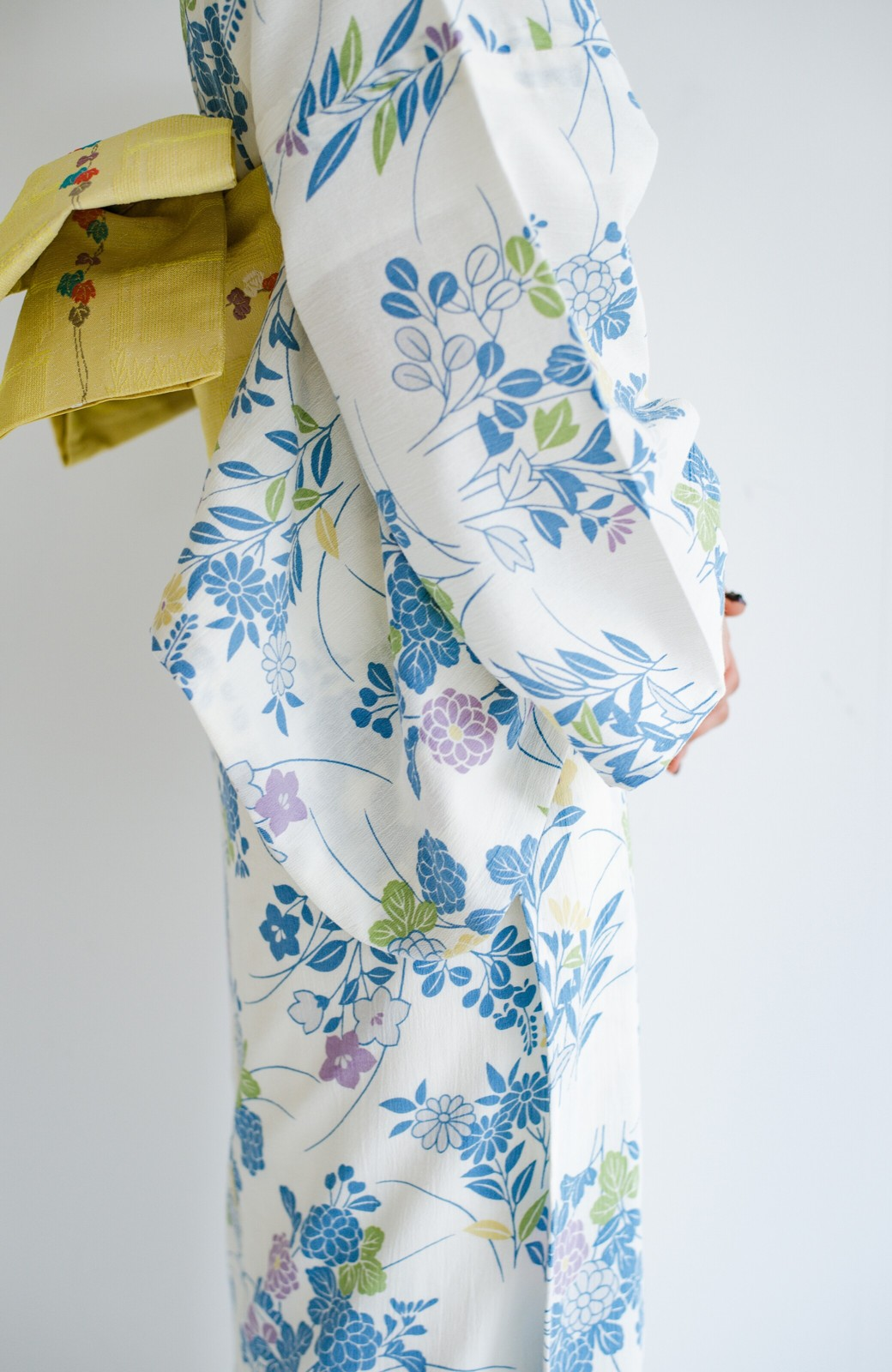 haco! ひでや工房 京都の綿ちりめん浴衣 <サックスブルー>の商品写真6