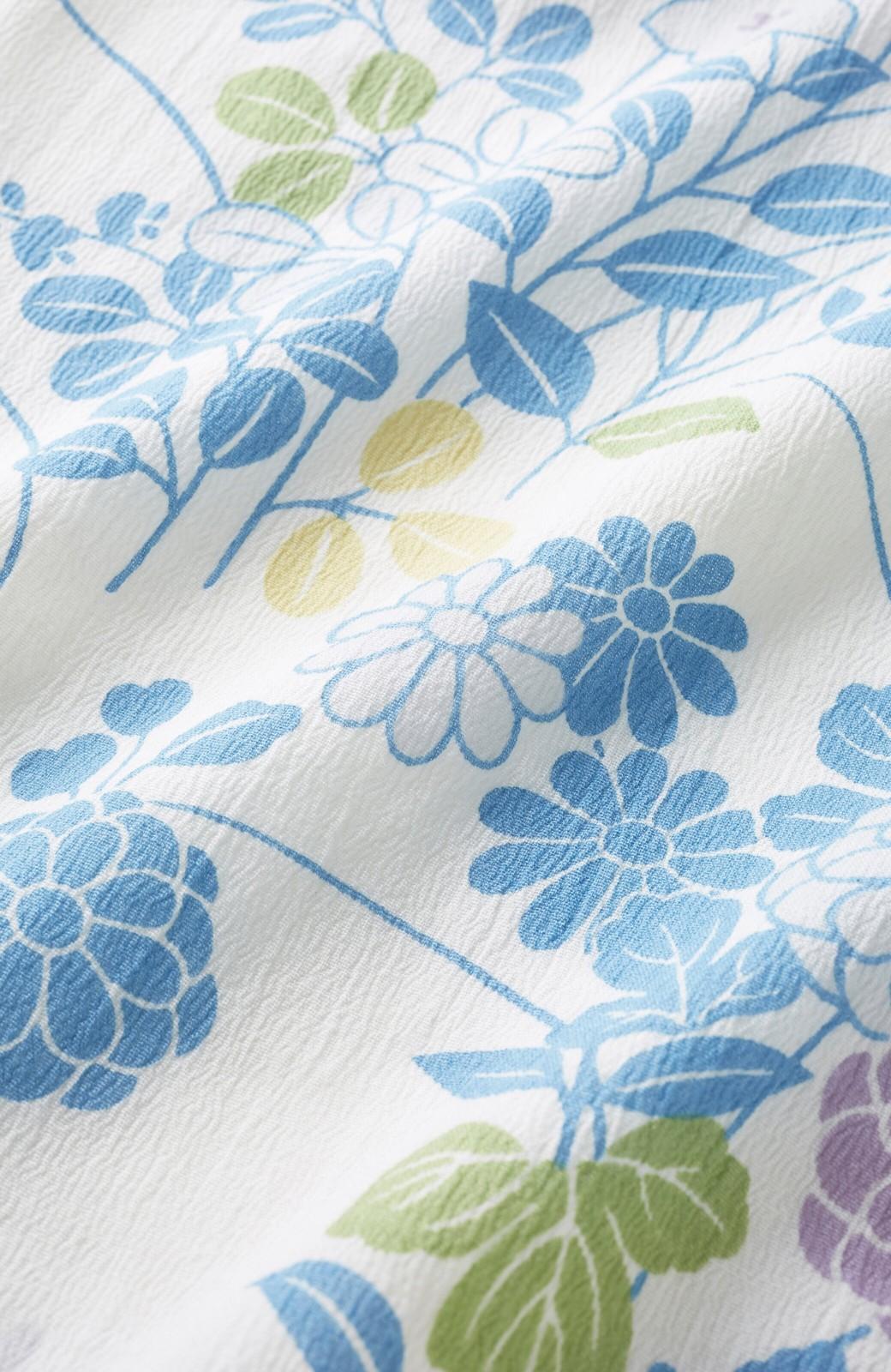 haco! ひでや工房 京都の綿ちりめん浴衣 <サックスブルー>の商品写真3