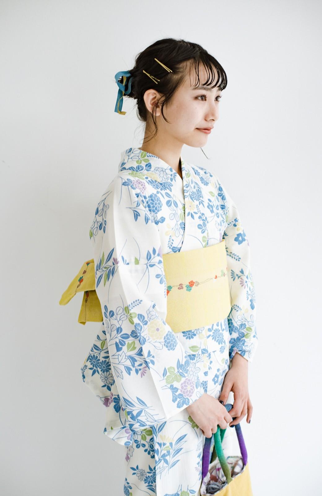 haco! ひでや工房 京都の綿ちりめん浴衣 <サックスブルー>の商品写真14