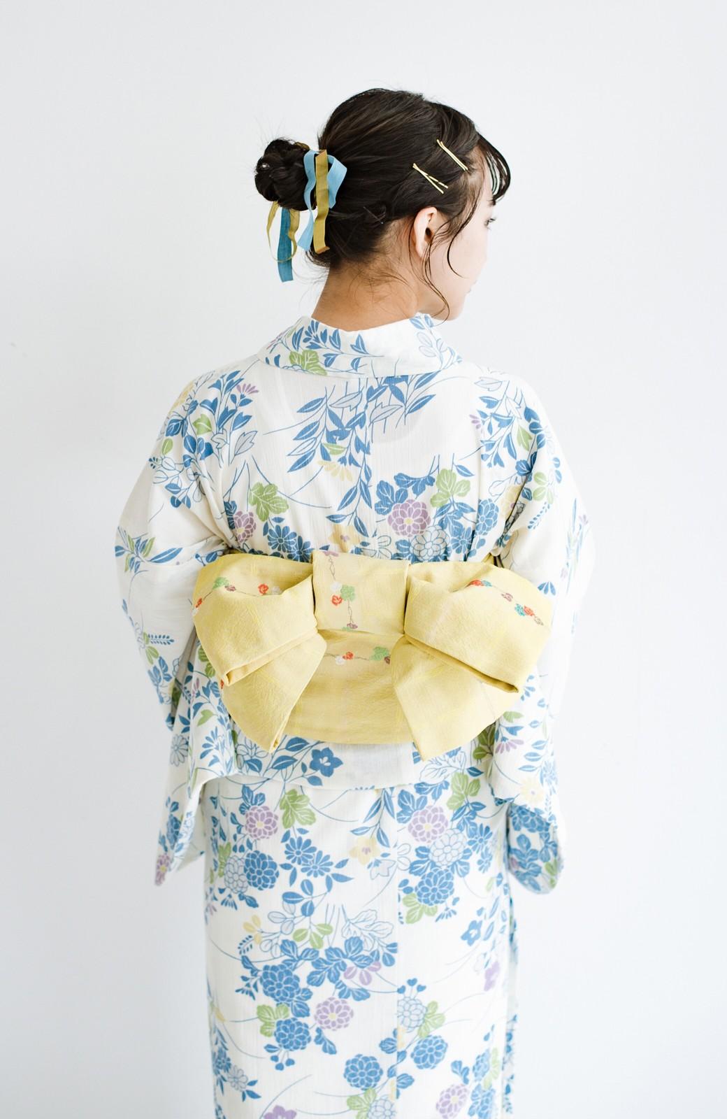 haco! ひでや工房 京都の綿ちりめん浴衣 <サックスブルー>の商品写真15