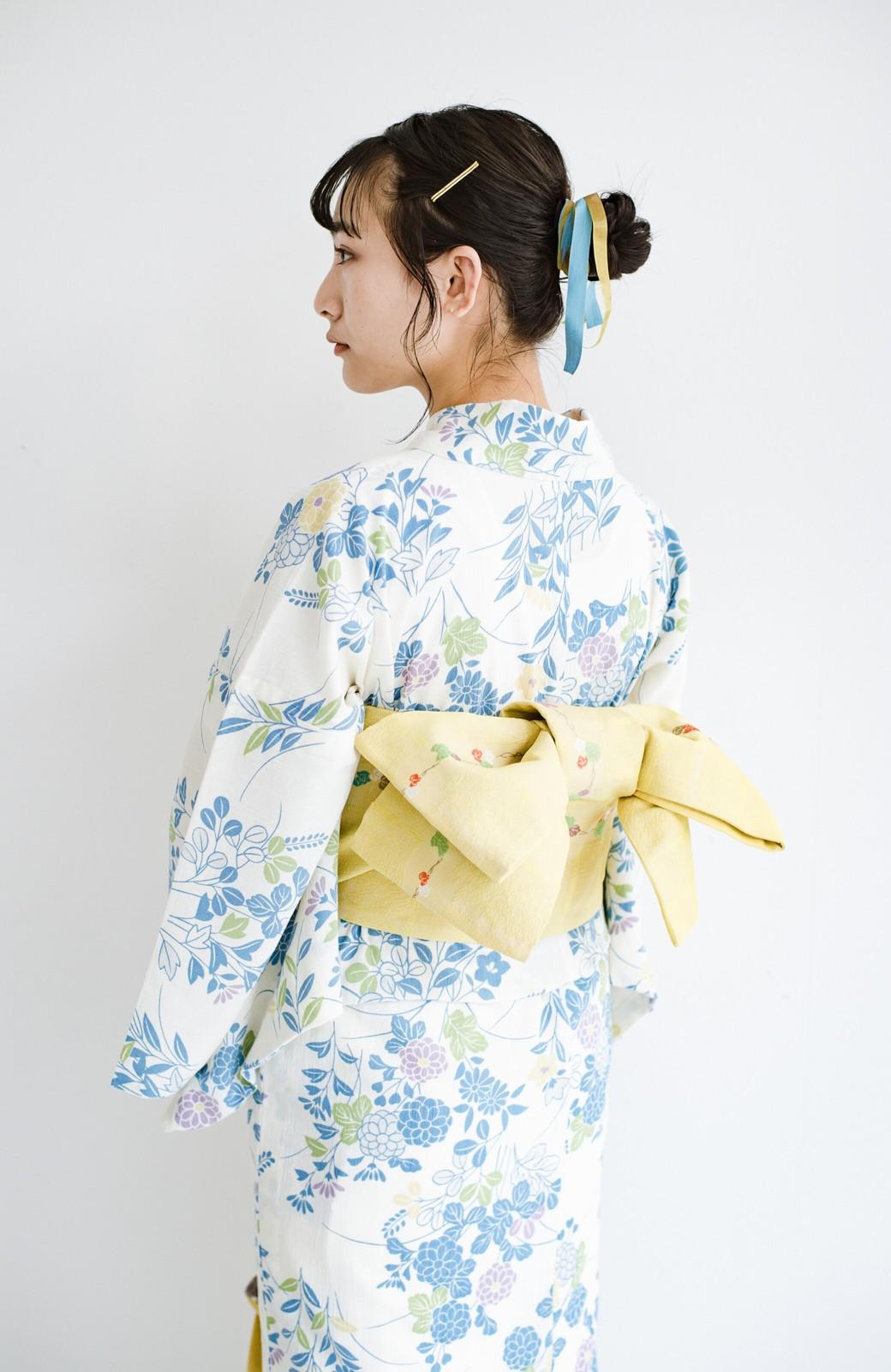haco! ひでや工房 京都の綿ちりめん浴衣 <サックスブルー>の商品写真17