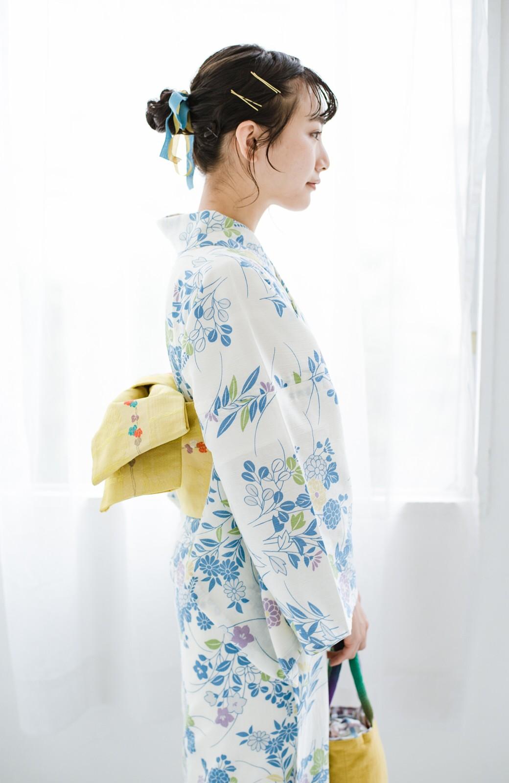 haco! ひでや工房 京都の綿ちりめん浴衣 <サックスブルー>の商品写真18
