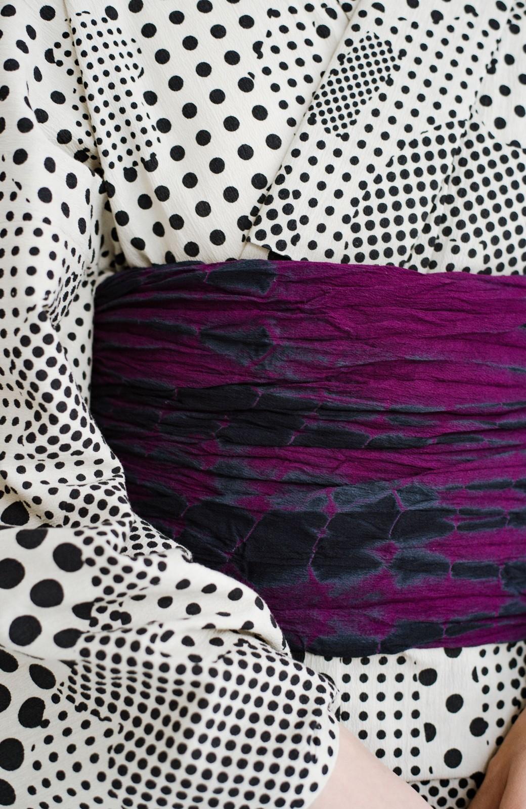 haco! ひでや工房 京都のへこ帯 伝統工芸士が作る巻上絞 <パープル系その他>の商品写真5