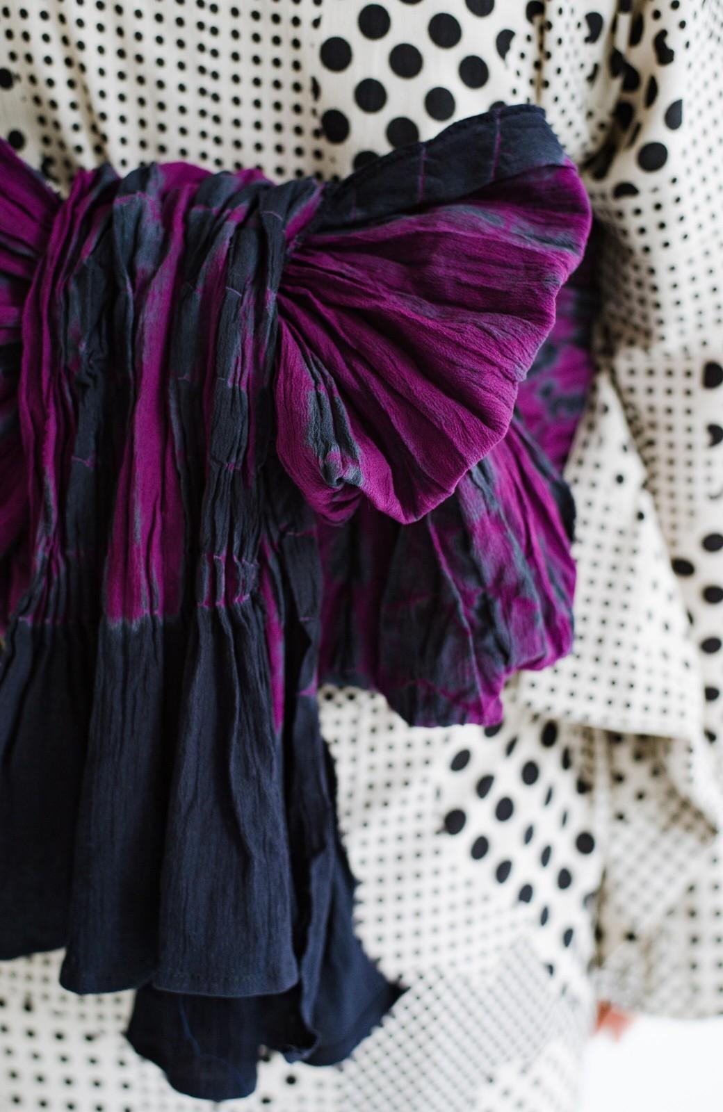 haco! ひでや工房 京都のへこ帯 伝統工芸士が作る巻上絞 <パープル系その他>の商品写真8