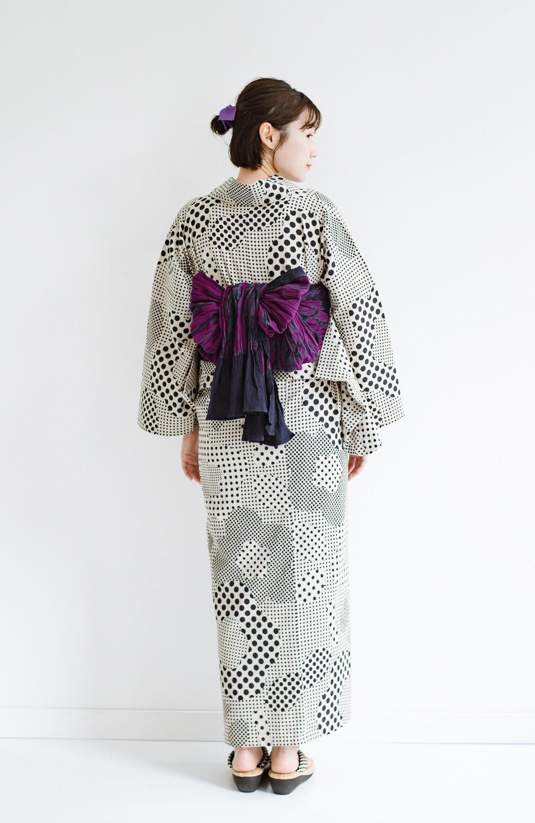 haco! ひでや工房 京都のへこ帯 伝統工芸士が作る巻上絞 <パープル系その他>の商品写真10