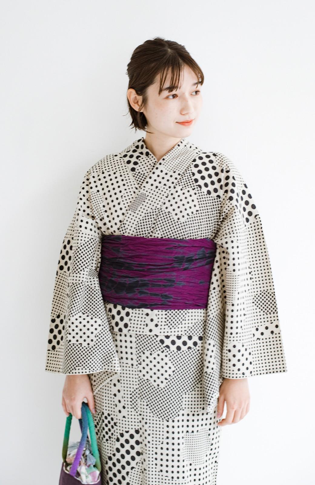 haco! ひでや工房 京都のへこ帯 伝統工芸士が作る巻上絞 <パープル系その他>の商品写真4