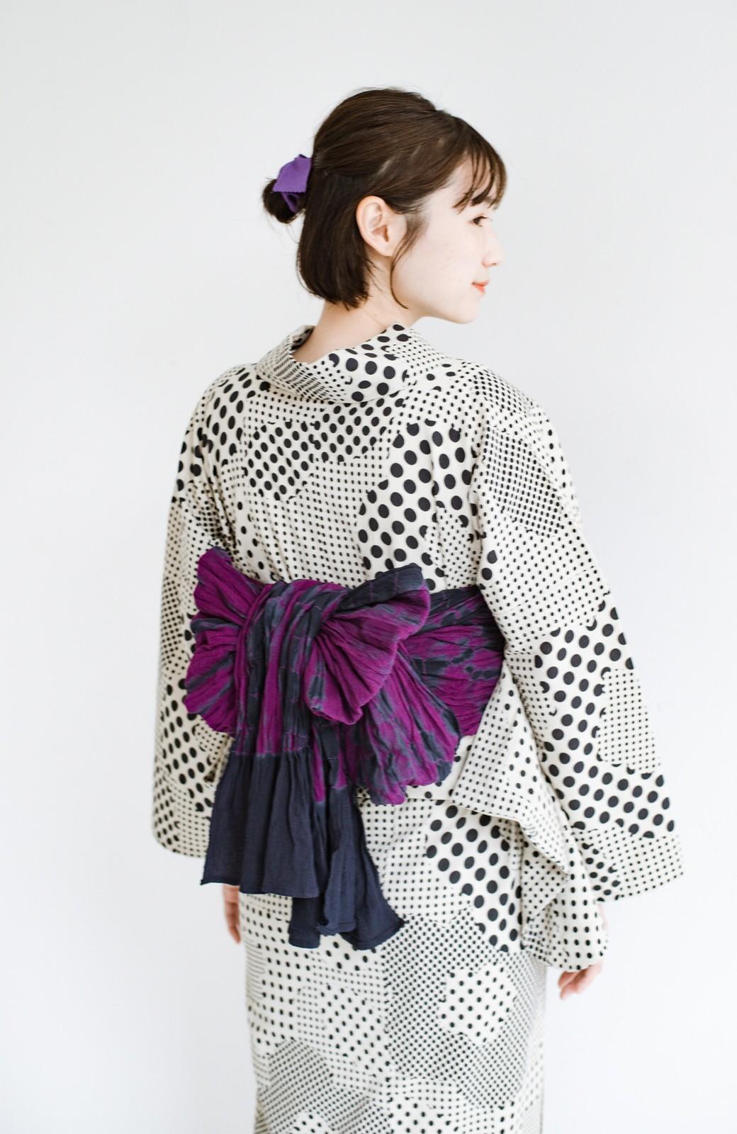 haco! ひでや工房 京都のへこ帯 伝統工芸士が作る巻上絞 <パープル系その他>の商品写真3