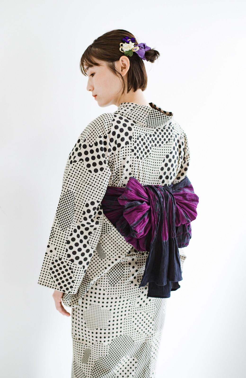 haco! ひでや工房 京都のへこ帯 伝統工芸士が作る巻上絞 <パープル系その他>の商品写真14