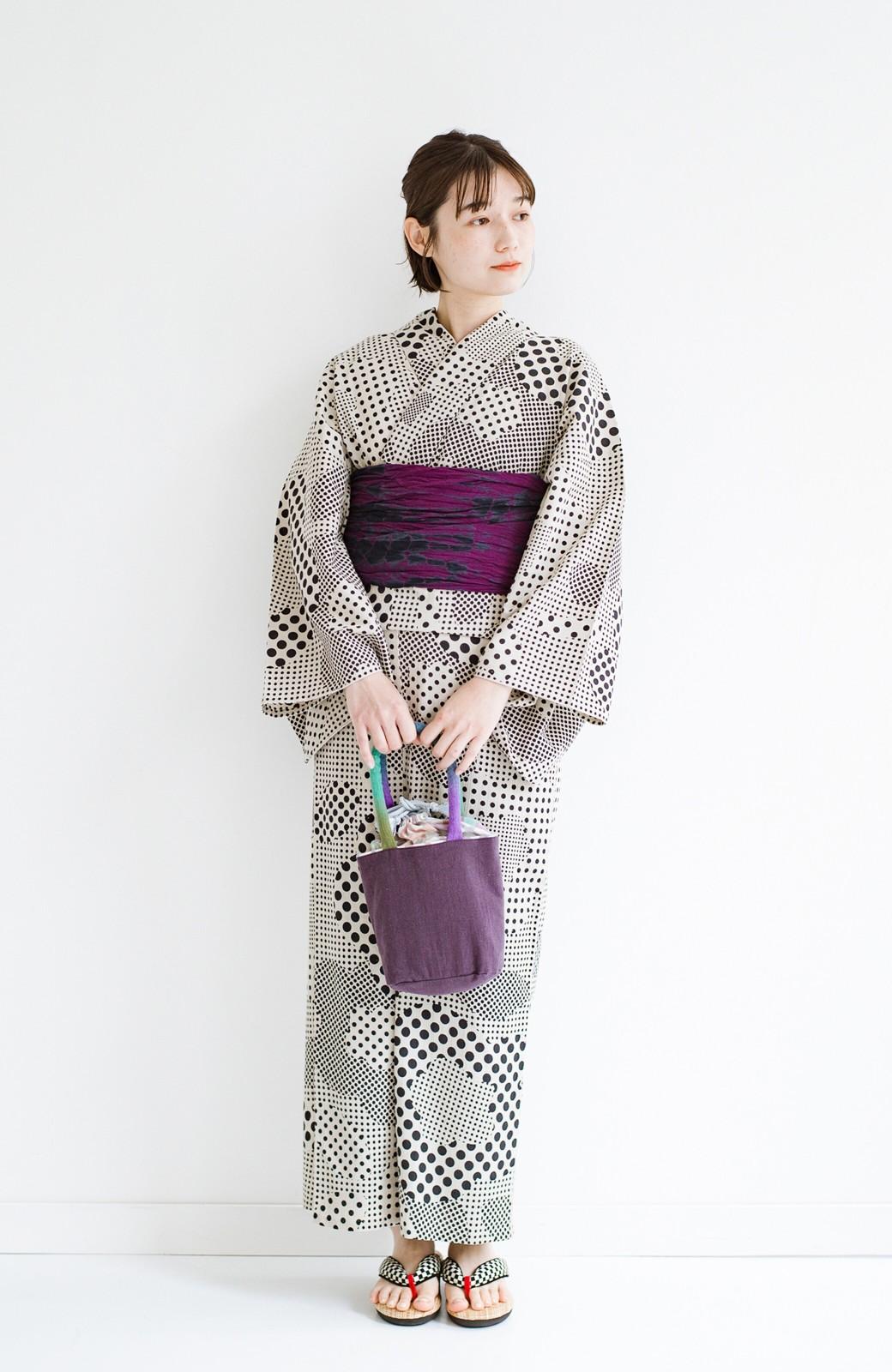 haco! ひでや工房 京都のへこ帯 伝統工芸士が作る巻上絞 <パープル系その他>の商品写真9