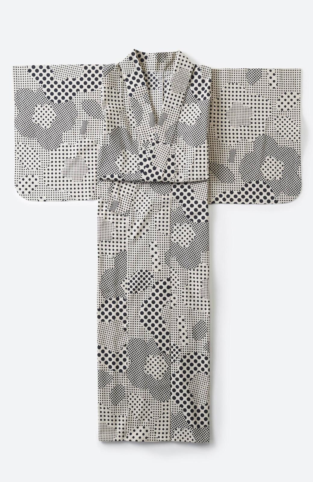 haco! ひでや工房 京都の綿ちりめん浴衣 <ベージュ>の商品写真2
