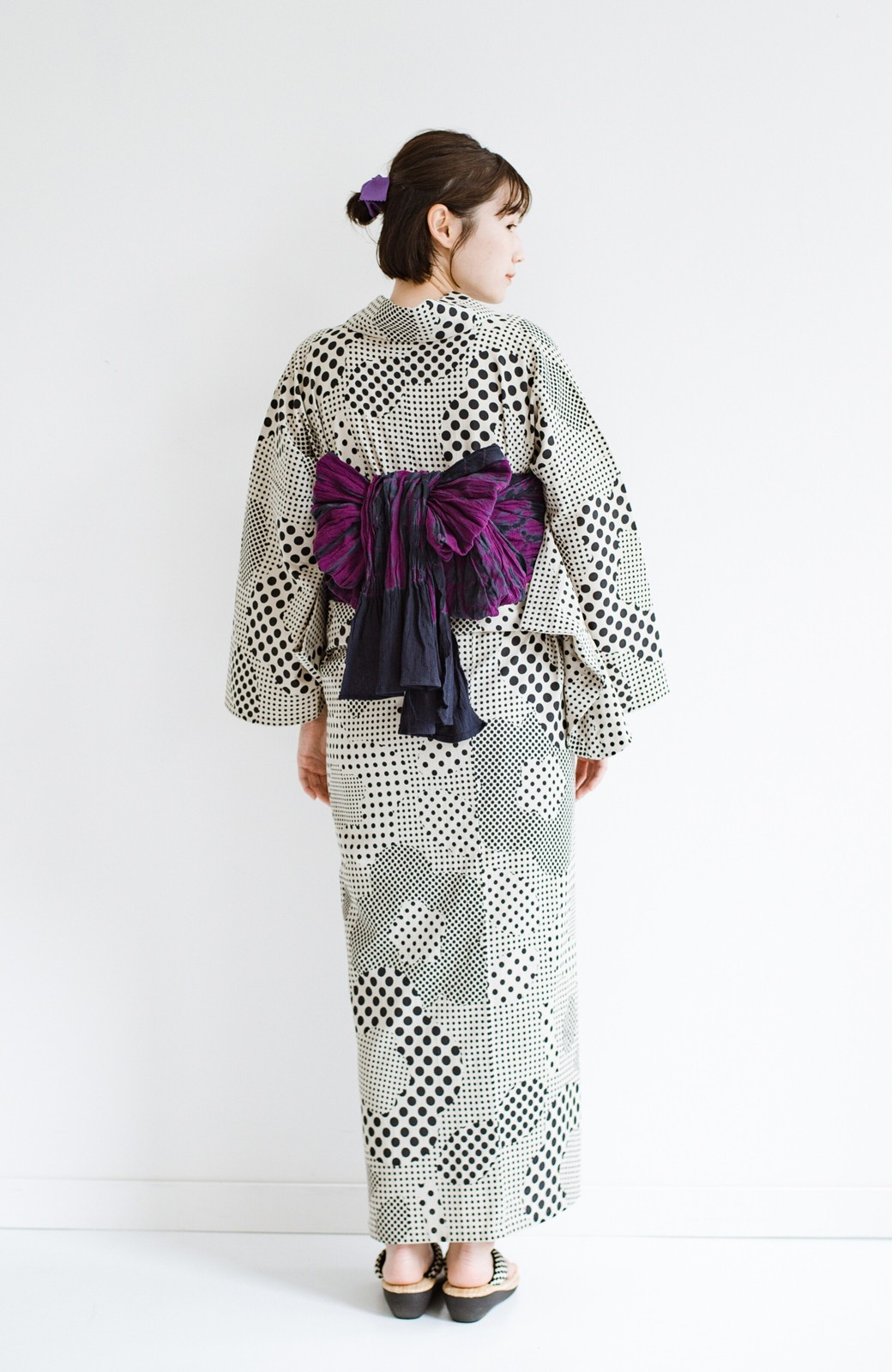 haco! ひでや工房 京都の綿ちりめん浴衣 <ベージュ>の商品写真11