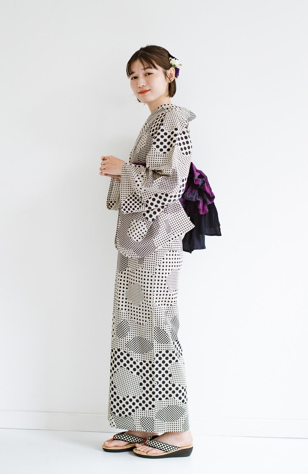 haco! ひでや工房 京都の綿ちりめん浴衣 <ベージュ>の商品写真8