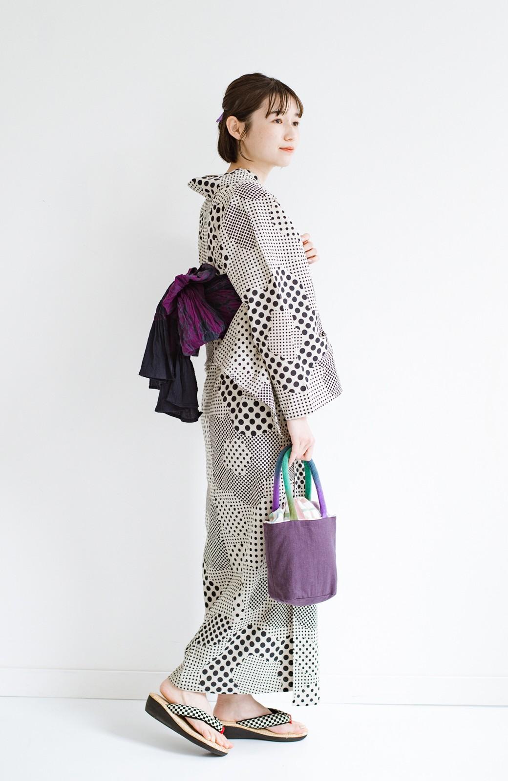 haco! ひでや工房 京都の綿ちりめん浴衣 <ベージュ>の商品写真10