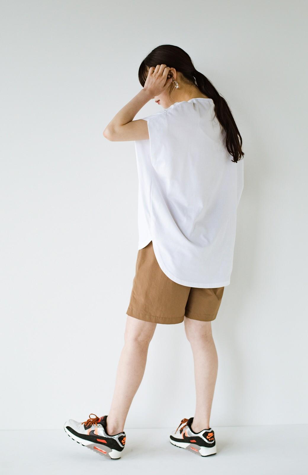 haco! PBPオーガニックコットン 楽ちんなのにブラウス気分で着られる大人のおめかしTシャツ <ホワイト>の商品写真21